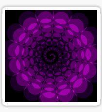 complex purple spiral Sticker