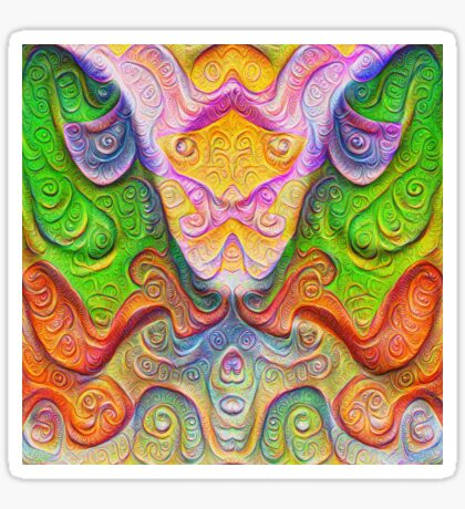 Color Stone carving #DeepDream Sticker