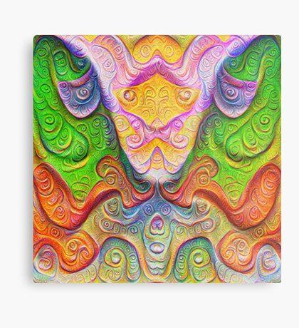 Color Stone carving #DeepDream Metal Print