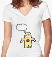 man in radiation proof suit Women's Fitted V-Neck T-Shirt