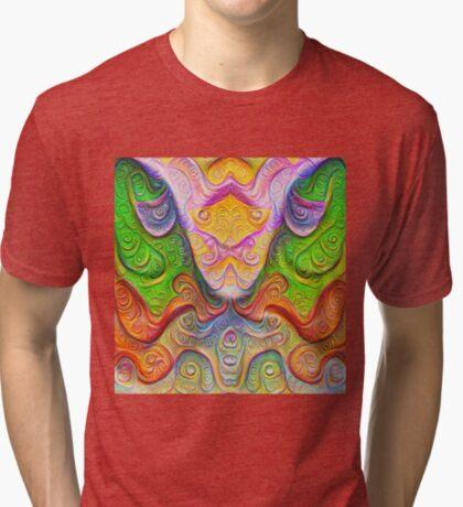 Color Stone carving #DeepDream Tri-blend T-Shirt
