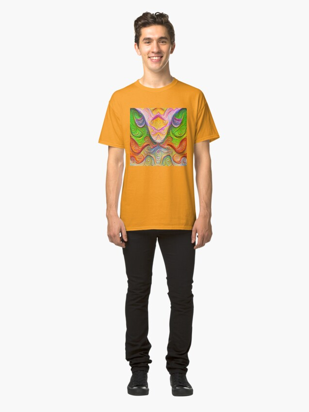 Alternate view of Color Stone carving #DeepDream Classic T-Shirt