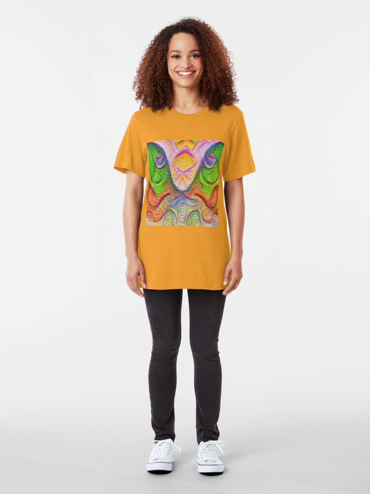 Alternate view of Color Stone carving #DeepDream Slim Fit T-Shirt