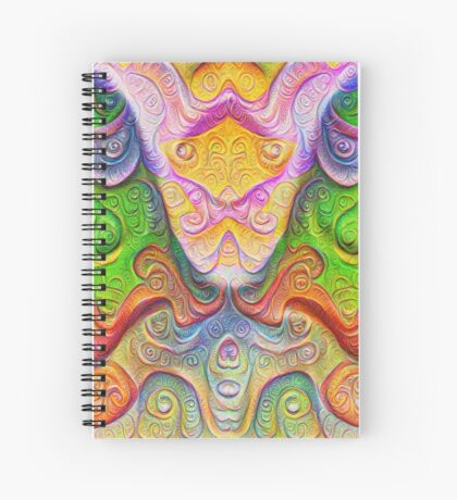 Color Stone carving #DeepDream Spiral Notebook