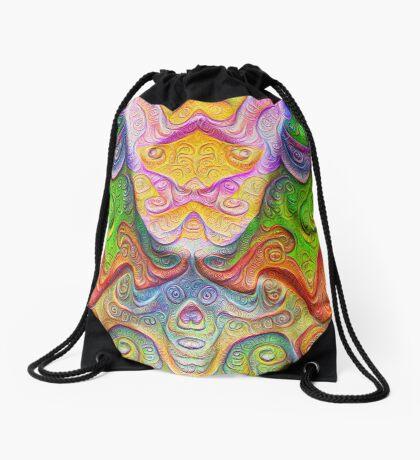 Color Stone carving #DeepDream Drawstring Bag