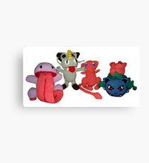 Pokemon Family Canvas Print