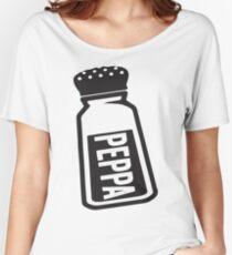 Salt \ Peppa 2/2, Black Ink   Women's Best Friends Shirts, Bff Stuff, Besties, Halloween Costume, Salt And Pepper Shakers Women's Relaxed Fit T-Shirt