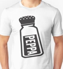 Salt \ Peppa 2/2, Black Ink | Women's Best Friends Shirts, Bff Stuff, Besties, Halloween Costume, Salt And Pepper Shakers T-Shirt