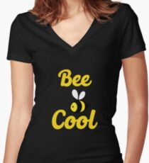 Bee cool Women's Fitted V-Neck T-Shirt