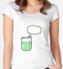 cartoon chemical beaker Women's Fitted Scoop T-Shirt