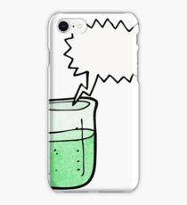 cartoon chemical beaker iPhone Case/Skin