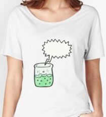 cartoon chemical beaker Women's Relaxed Fit T-Shirt