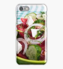 Useful vegetarian salad with raw tomatoes, cucumbers and onions iPhone Case/Skin