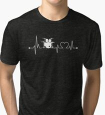 Heartbeat Hobby Drums Tri-blend T-Shirt