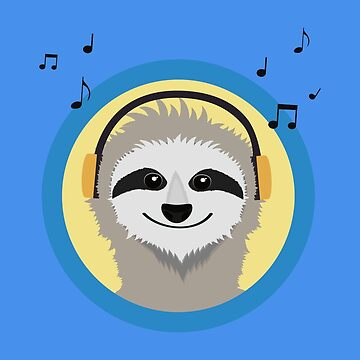 Cool Sloth is hearing music by ilovecotton