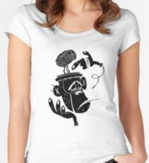 Numb Skull Monkey Women's Fitted Scoop T-Shirt