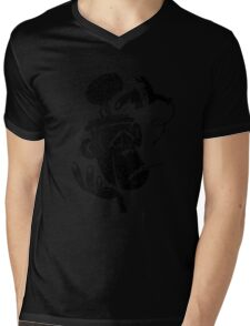 Numb Skull Monkey Mens V-Neck T-Shirt