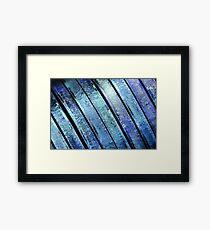 Metal Macro #1 Blue Framed Print