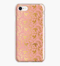 BLUSH AND GOLD WEDDING iPhone Case/Skin