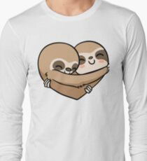 Sloth  Heart Long Sleeve T-Shirt