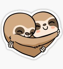 Sloth  Heart Sticker