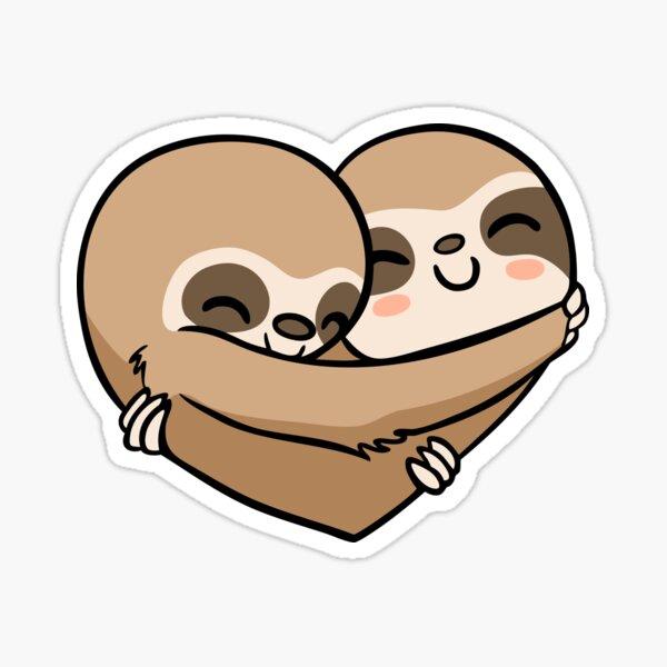 Sloth  Heart Sticker