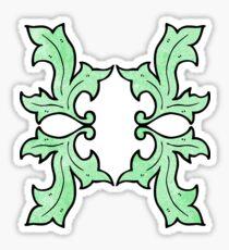 cartoon decorative nature themed florals Sticker