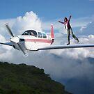 Flying above the clouds by Istvan Hernadi