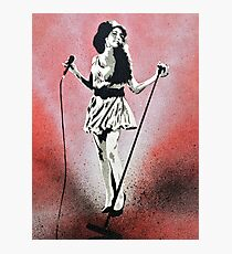 Amy Winehouse Stencil Street Art Photographic Print