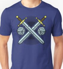 Crossed Swords and Dice Unisex T-Shirt