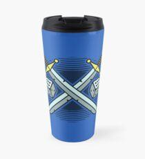Crossed Swords and Dice Travel Mug