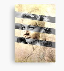 "Leonardo Da Vinci's ""Head of a Woman"" & Lauren Bacall Canvas Print"