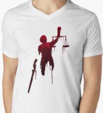 lady justice Men's V-Neck T-Shirt