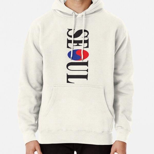 Mens Classic Pullover Hoodie Sweatshirt,Seoul Print