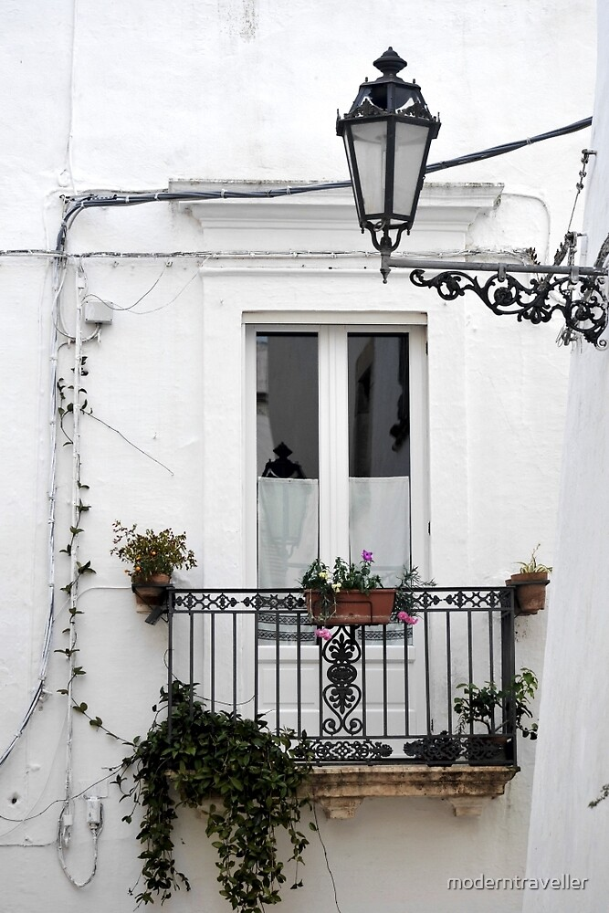 White window in Puglia, Italy by moderntraveller