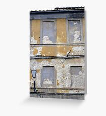 Faded frontage in Italy Greeting Card