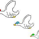 Classy Flying Ducks by itsaduckblur