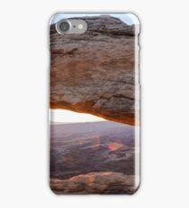 Mesa Arch Sunrise Panorama - Canyonlands National Park iPhone Case/Skin