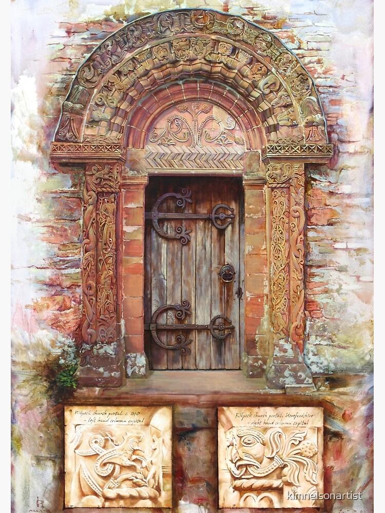 Kilpeck Church Portal by kimnelsonartist