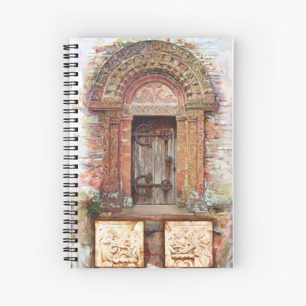 Kilpeck Church Portal Spiral Notebook