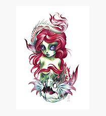 mermaid girl from mars Photographic Print