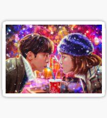 Сhristmas love couple Sticker