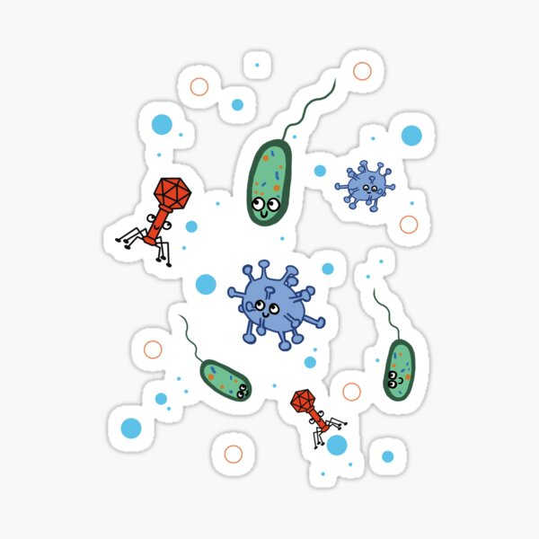 Cute Microbiology Sticker
