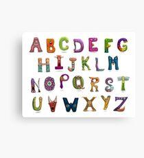 Monster Alphabet Canvas Print