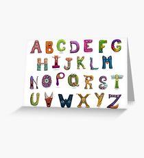 Monster Alphabet Greeting Card