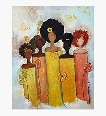 Sistahs Stand Golden Photographic Print
