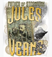 Jules Verne - Father of Steampunk Poster