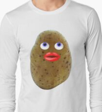Funny Potato Cute Character With Blue Eyes T-Shirt