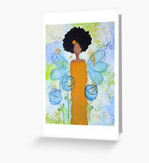 Sistah Stand Angel, African American Greeting Card