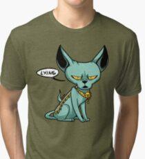 Lying Cat Tri-blend T-Shirt